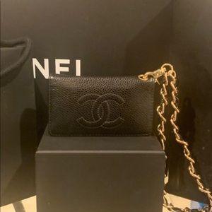 Chanel Classic Caviar Key/Card holder wristlet